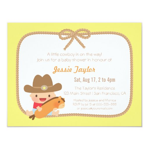 Baby Shower Cowboy Theme: Cute Cowboy Western Themed Baby Shower Invitations