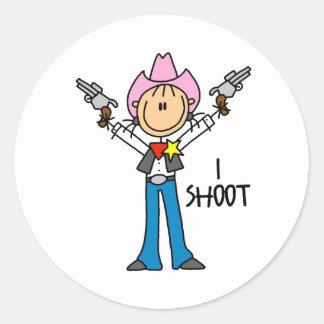 Cute Cowgirl Gift Classic Round Sticker