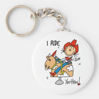 Cute Cowgirl Gift Basic Round Button Keychain