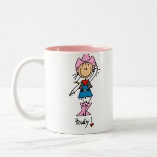 Cute Cowgirl Gift Two-Tone Coffee Mug