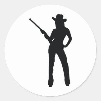 cute Cowgirl Classic Round Sticker