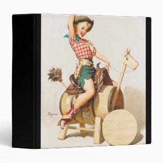 Cute cowgirl vintage pinup girl binder
