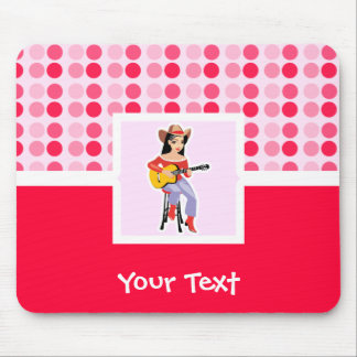 Cute Cowgirl with Guitar Mouse Pad