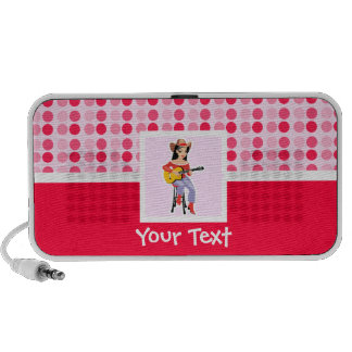 Cute Cowgirl with Guitar Laptop Speaker