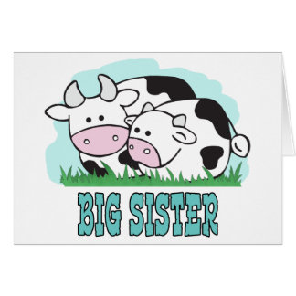 Cute Cows Big Sister Card