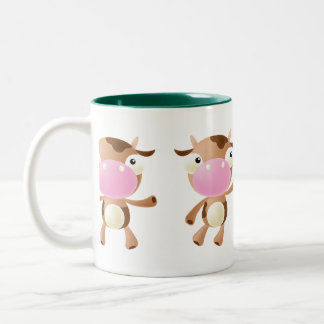 Cute Cows Two-Tone Coffee Mug