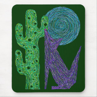 Cute Coyote Wolf Art Mouse Pad Southwest