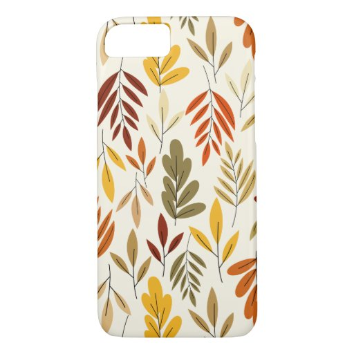 Cute Cozy Fall Leaves Pattern iPhone 8/7 Case