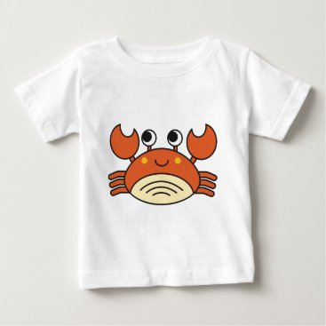 Beach Themed Cute Crab Baby T-Shirt