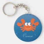 Cute Crab Cancer Zodiac Sign Custom Basic Round Button Keychain