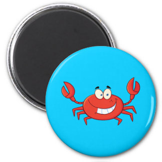 Cute Crab Cartoon Magnet