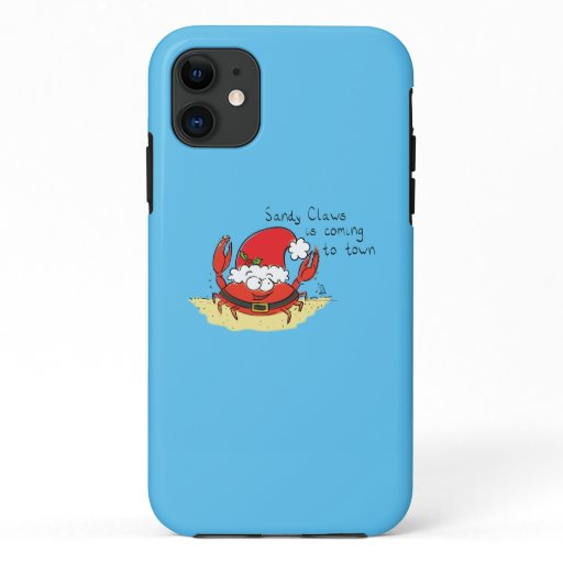 Cute Crab Christmas Funny Holiday Santa Cartoon iPhone 11 Case