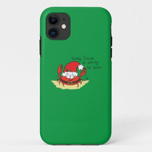 Cute Crab Christmas Funny Holiday Santa Cartoon iPhone 11 Case