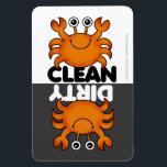 "Cute Crab Dishwasher Magnet<br><div class=""desc"">Cute cartoon crab clean/dirty dishwasher magnet  PLEASE NOTE this design was created for the large magnet only</div>"