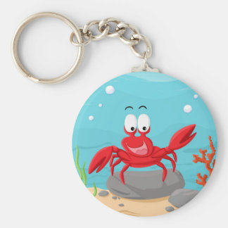 cute crab keychain