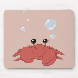 Cute crab mouse pad
