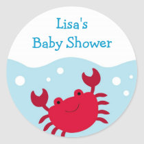 Cute Crab Ocean Bubbles Envelope Seals Stickers