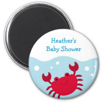 Cute Crab Ocean Nautical Party Favor Magnets