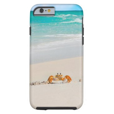 Beach Themed Cute Crab on a Tropical Beach Phone Cases