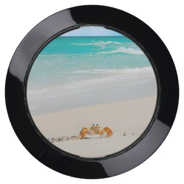 Beach Themed Cute Crab on a Tropical Beach USB Charging Station