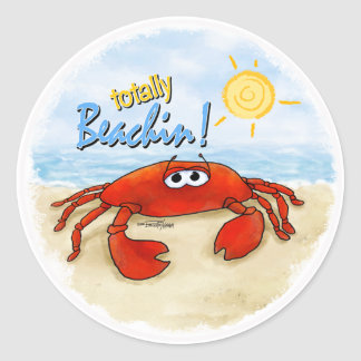 Cute crab stickers