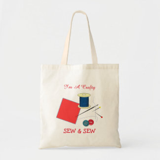 Cute Crafty Sew And Sew Budget Tote Bag
