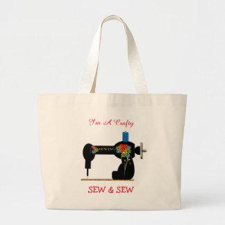 Cute Crafty Sew And Sew Jumbo Tote Bag