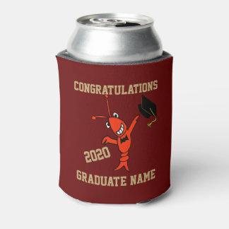 Cute Crawfish Graduation Can Cooler