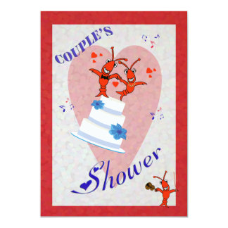 Cute Crawfish (Lobster) Couple's Shower Invitation