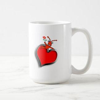 Cute Crawfish / Lobster Heart Coffee Mug