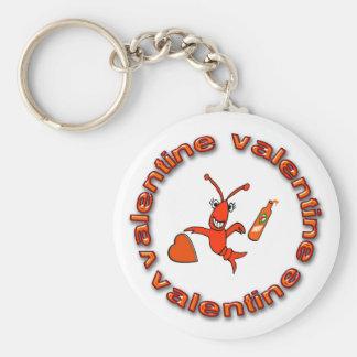 Cute Crawfish (Lobster) Hot Sauce Valentine Keychain