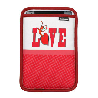 Cute Crawfish Lobster Love iPad Sleeve