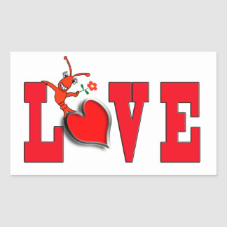 Cute Crawfish (Lobster) Love Stickers