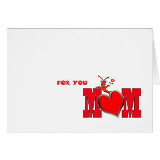 Cute Crawfish / Lobster with Heart  Mom Card