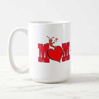 Cute Crawfish / Lobster with Heart  Mom Coffee Mug