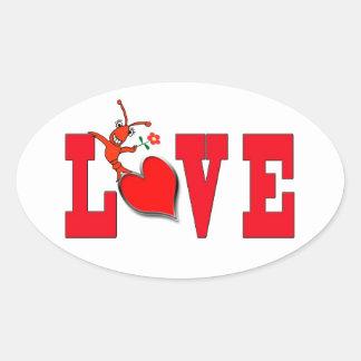 "Cute Crawfish ""Love"" Sticker"