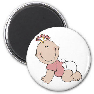 Cute Crawling Baby 2 Inch Round Magnet