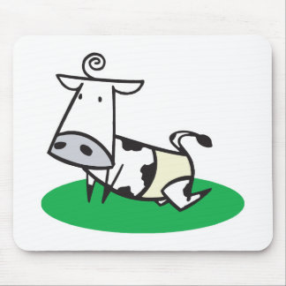 cute crawling baby cow mouse pad