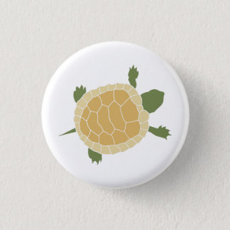 Cute Crawling Little Turtle Tortoise Pinback Button