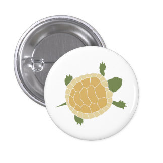 Cute Crawling Little Turtle Tortoise Pinback Button