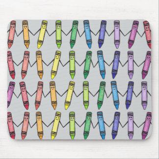 Cute Crayon Pals Mousepad