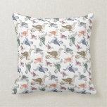 Cute Crazy Bird Pattern - Bird Watcher's Funny Pillow