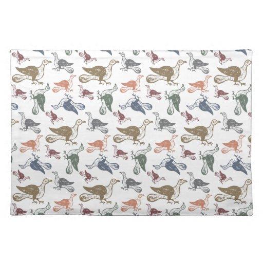 Cute Crazy Bird Pattern - Bird Watcher's Funny Placemat