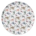 Cute Crazy Bird Pattern - Bird Watcher's Funny Plate