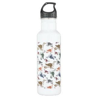 Cute Crazy Bird Pattern - Bird Watcher's Funny Stainless Steel Water Bottle
