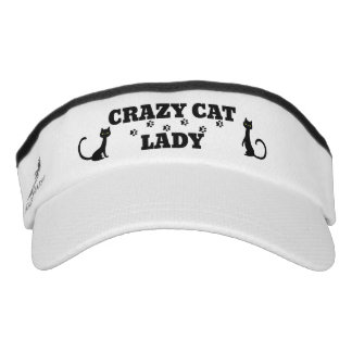 Cute Crazy Cat Lady Design Sun Visor