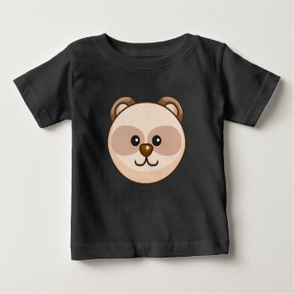Cute Cream Bear Cartoon Black Custom Baby Baby T-Shirt