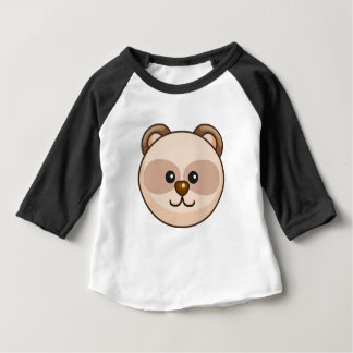 Cute Cream Bear Cartoon Black Customizable Baby Baby T-Shirt