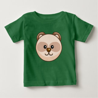 Cute Cream Bear Cartoon Green Custom Baby Baby T-Shirt
