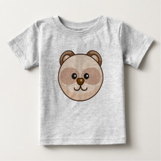 Cute Cream Bear Cartoon Grey Customizable Baby Baby T-Shirt